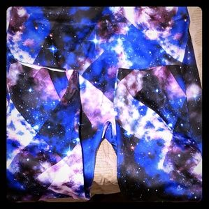 Adorable Galaxy and black & white splash leggings
